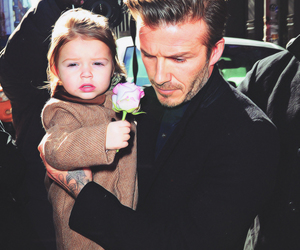 David Beckham and papa image