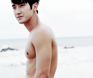 abs, siwon, and korea image