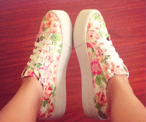 shoes and flowers image