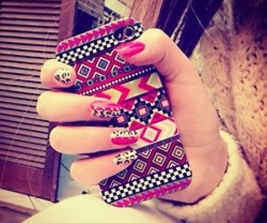 nails, tribal, and case image