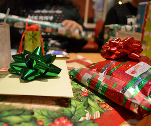 christmas, surprise, and gift image