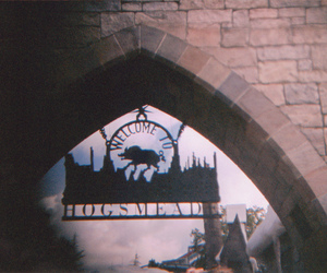 harry potter, hogsmeade, and vintage image