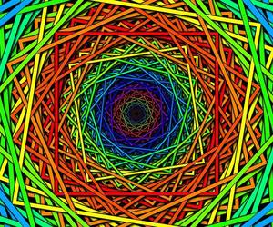colors, high, and psychedelic image