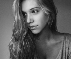 girl, alexis ren, and black and white image