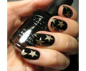 golden, manicure, and nails art image