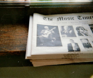 music, vintage, and newspaper image