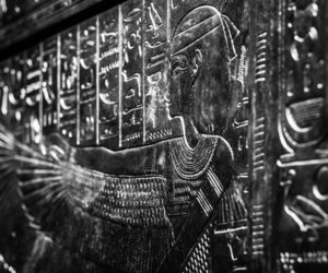 ancient egypt, black and white, and carving image