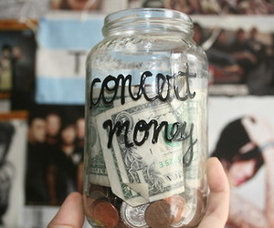 concert, money, and music image