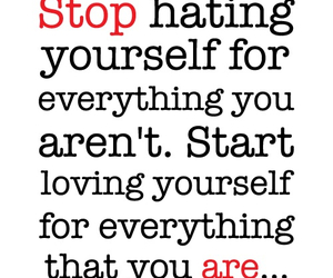 quote, hate, and yourself image