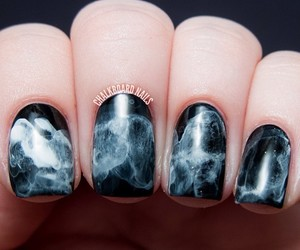 nails, smoke, and black image