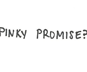 promise, pinky promise, and quotes image