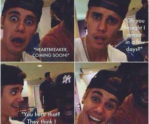 heartbreaker, justin bieber, and funny image