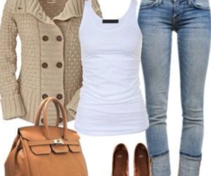 bags, fall, and jeans image