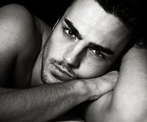 black and white, male model, and men image