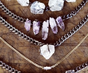 necklace, stones, and crystal image