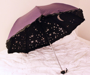 umbrella, stars, and moon image