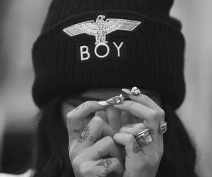 girl, boy, and tattoo image