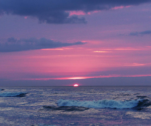 sunset, sea, and ocean image
