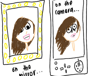 camera, mirror, and funny image