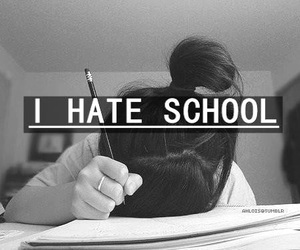 school and hate image
