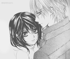 anime, vampire knight, and black and white image