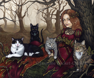 jasmine becket-griffith. and karen and her cats image