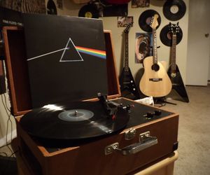 music, Pink Floyd, and guitar image