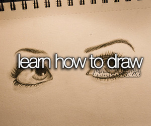 draw, bucket list, and learn image