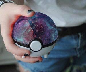 pokemon, galaxy, and pokeball image