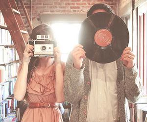 vintage, camera, and couple image