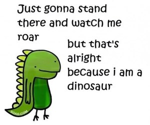 dinosaur, roar, and funny image