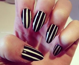 nails, fashion, and stripes image