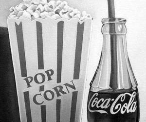 black, coca cola, and Pop cOrn image