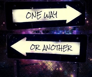 one, way, and another image
