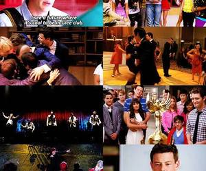 glee, finn hudson, and new directions image