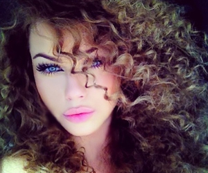 girl, blue eyes, and curly hair image