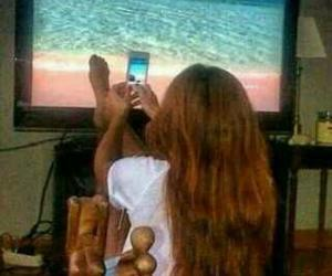 beach, funny, and lol image
