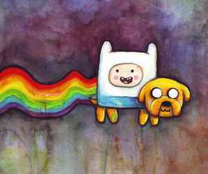 finn, adventure time, and art image