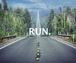 run and road image