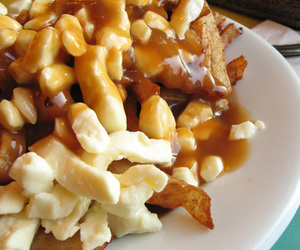 poutine, food, and yummy image