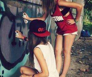 fashion, graffiti, and hair image