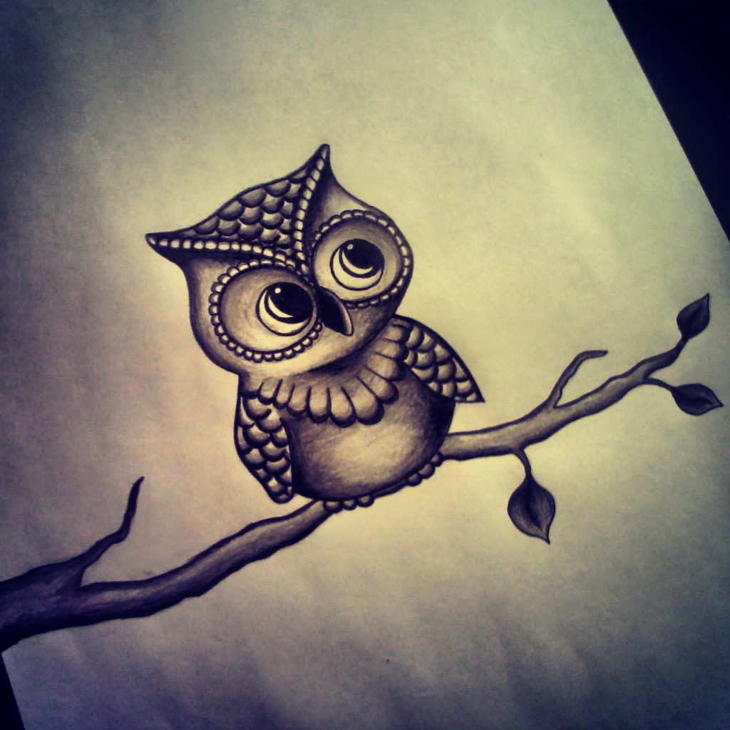 rereading of this cute owl to my friend on we heart it