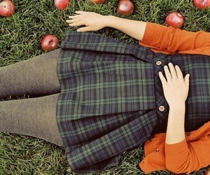 apple, autumn, and dress image
