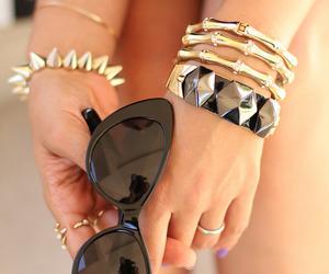 fashion, sunglasses, and bracelet image