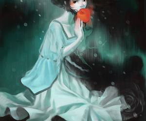 apple, girl, and cute image