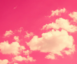 pink, clouds, and sky image