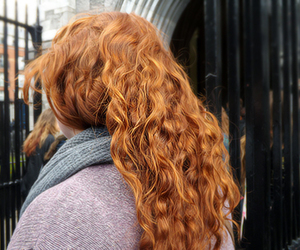 curly, red hair, and fashion image