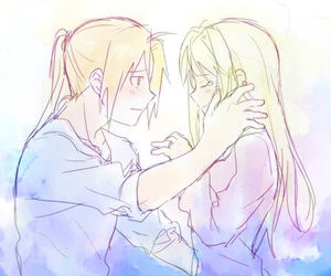 blonde, edward elric, and winry image