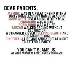 disney, rebel, and parents image