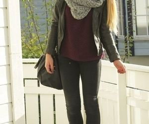 boots, fall, and scarf image
